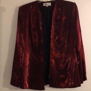 Renlyn New York Red Zip Front Jacket & Skirt Sz 14